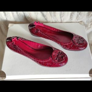 Tory Burch red ballerina flats size 11